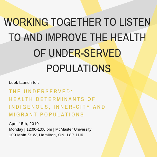 working together to listen to and improve the health of under-served populations